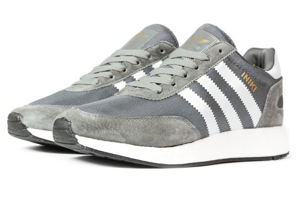 Мужские кроссовки Adidas Iniki Runner серые