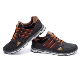 Купить Мужские кроссовки Adidas темно-коричневые в Украине