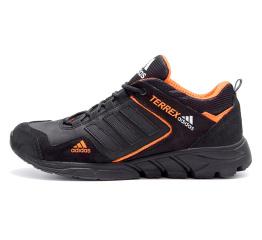 Купить Мужские кроссовки Adidas Terrex черные с оранжевым