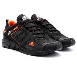 Купить Мужские кроссовки Adidas Terrex черные с оранжевым в Украине
