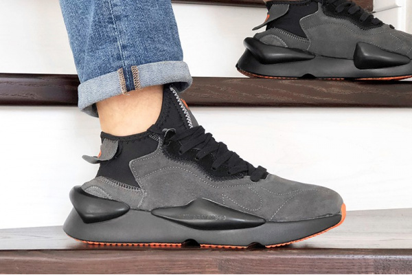 Мужские кроссовки Adidas Y-3 Kaiwa серые