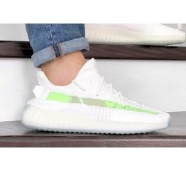 Купить Мужские кроссовки Adidas Yeezy Boost 350 V2 белые с салатовым
