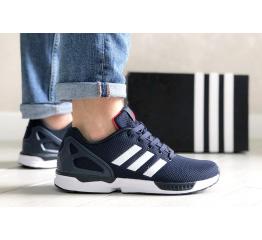 Купить Мужские кроссовки Adidas ZX Flux темно-синие с белым