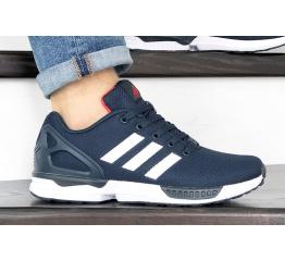 Купить Чоловічі кросівки Adidas ZX Flux темно-сині з білим в Украине