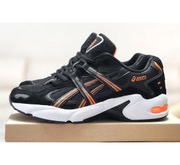 Купить Мужские кроссовки Asics Gel-Kayano черные с белым и оранжевым