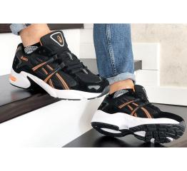 Купить Мужские кроссовки Asics Gel-Kayano черные с белым и оранжевым в Украине