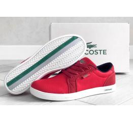Купить Мужские кроссовки Lacoste Europe красные в Украине