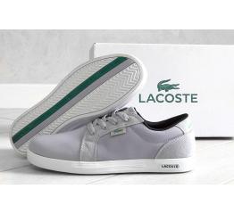 Купить Мужские кроссовки Lacoste Europe светло-серые в Украине