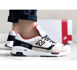 Купить Мужские кроссовки New Balance 1500 бежевые с белым и красным