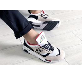 Купить Мужские кроссовки New Balance 1500 бежевые с белым и красным в Украине