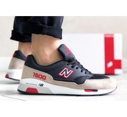 Купить Мужские кроссовки New Balance 1500 бежевые с черным