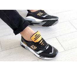 Купить Мужские кроссовки New Balance 1500 черные с белым и желтым в Украине