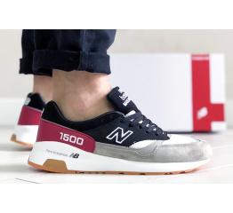 Купить Чоловічі кросівки New Balance 1500 чорні з сірим и красным