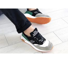Купить Чоловічі кросівки New Balance 1500 сірі з зеленим и черным в Украине