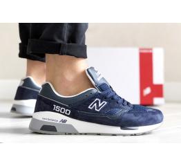 Купить Мужские кроссовки New Balance 1500 синие с белым