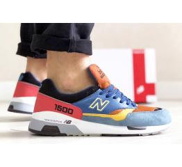 Купить Мужские кроссовки New Balance 1500 синие с коричневым