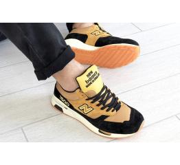 Мужские кроссовки New Balance 1500 светло-коричневые с черным