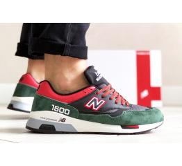 Купить Мужские кроссовки New Balance 1500 зеленые с черным и красным