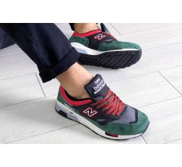 Купить Мужские кроссовки New Balance 1500 зеленые с черным и красным в Украине