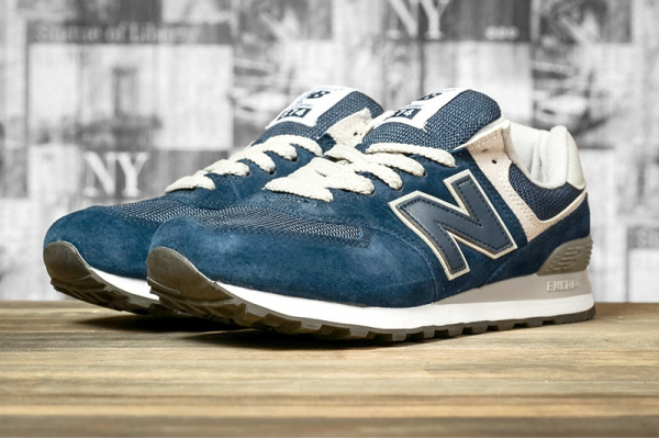 Мужские кроссовки New Balance 574 синие с серым