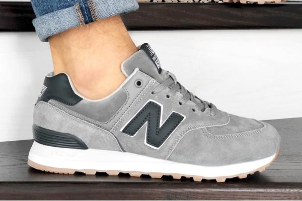 Мужские кроссовки New Balance 574 светло-серые