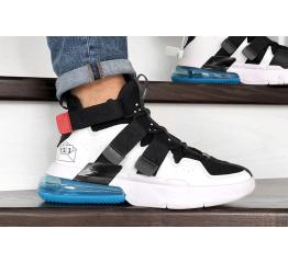 Мужские кроссовки Nike Air Edge 270 белые с черным и голубым