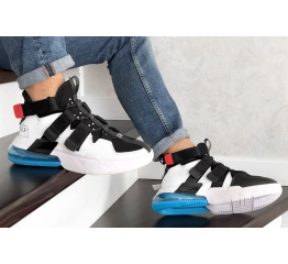 Купить Мужские кроссовки Nike Air Edge 270 белые с черным и голубым