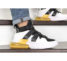 Мужские кроссовки Nike Air Edge 270 белые с черным и желтым
