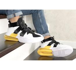Купить Мужские кроссовки Nike Air Edge 270 белые с черным и желтым