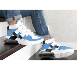 Купить Мужские кроссовки Nike Air Edge 270 голубые с белым