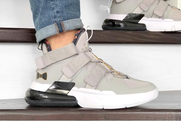 Мужские кроссовки Nike Air Edge 270 серые с белым