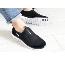 Купить Мужские кроссовки Nike Air Free Run 3.0 Slip-On черные с белым в Украине