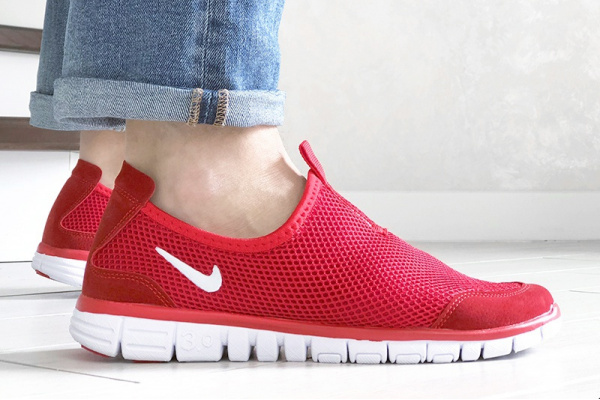 Мужские кроссовки Nike Air Free Run 3.0 Slip-On красные