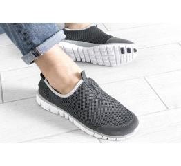 Купить Мужские кроссовки Nike Air Free Run 3.0 Slip-On серые в Украине