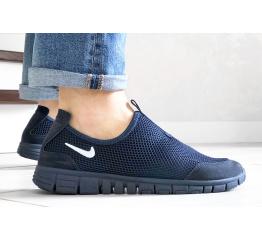 Купить Мужские кроссовки Nike Air Free Run 3.0 Slip-On темно-синие