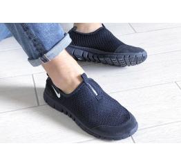Купить Мужские кроссовки Nike Air Free Run 3.0 Slip-On темно-синие в Украине
