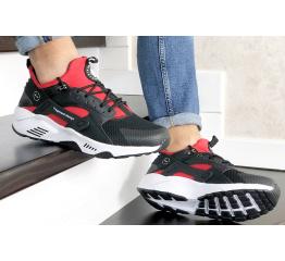 Купить Мужские кроссовки Nike Air Huarache х Fragment Design черные с белым и красным