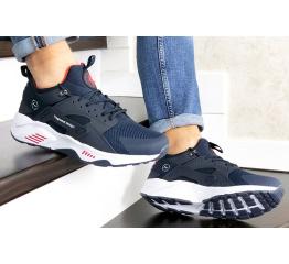 Купить Мужские кроссовки Nike Air Huarache х Fragment Design темно-синие с белым