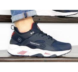 Купить Чоловічі кросівки Nike Air Huarache х Fragment Design темно-сині з білим в Украине