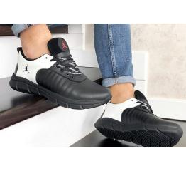 Купить Мужские кроссовки Nike Air Jordan черные с белым