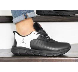 Купить Мужские кроссовки Nike Air Jordan черные с белым в Украине