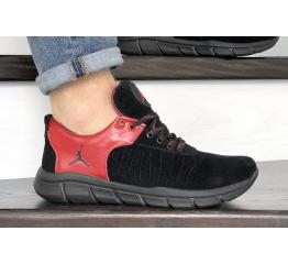 Купить Мужские кроссовки Nike Air Jordan черные с красным