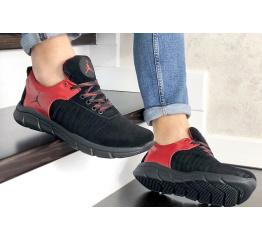 Купить Мужские кроссовки Nike Air Jordan черные с красным в Украине