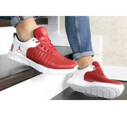 Купить Мужские кроссовки Nike Air Jordan красные с белым