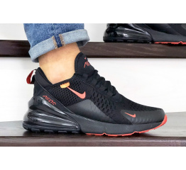 Купить Чоловічі кросівки Nike Air Max 270 чорні з помаранчевим