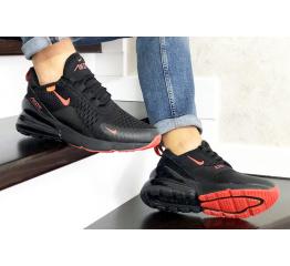 Купить Чоловічі кросівки Nike Air Max 270 чорні з помаранчевим в Украине