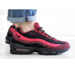 Купить Мужские кроссовки Nike Air Max 95 OG бордовые с черным