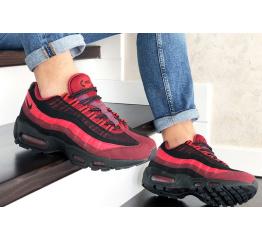 Купить Мужские кроссовки Nike Air Max 95 OG бордовые с черным в Украине