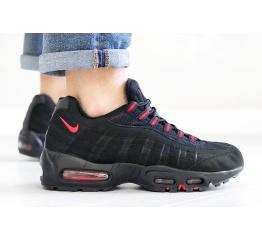 Купить Мужские кроссовки Nike Air Max 95 OG черные с красным