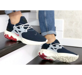 Купить Мужские кроссовки Nike Air Presto React темно-синие с бежевым